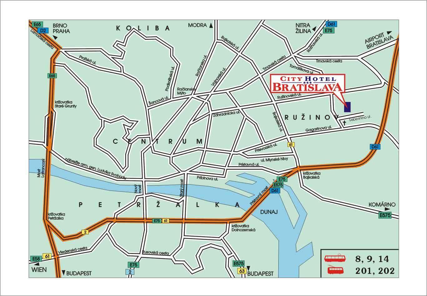 Bratislavainfo Bratislava map street map of Bratislava